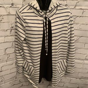 Saks Fifth Avenue Fleece Hooded Cardigan Sz S